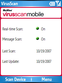 McAfee VirusScan Mobile