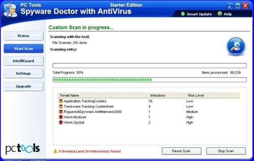 PCTools SpywareDoctor SE